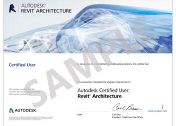 Autodesk_Revit_Architecture_Certified_User_Certificate_Sample